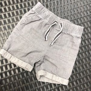 Grey washed toddlers denim shorts